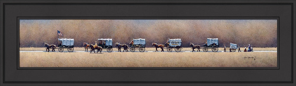 Pioneer Mormon Wagon Train by Eric Dowdle