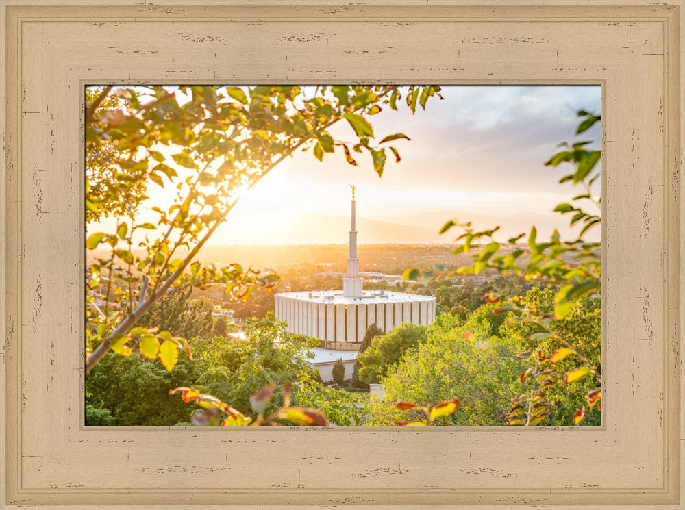 Provo Utah Temple - A Glorious Sight by Evan Lurker