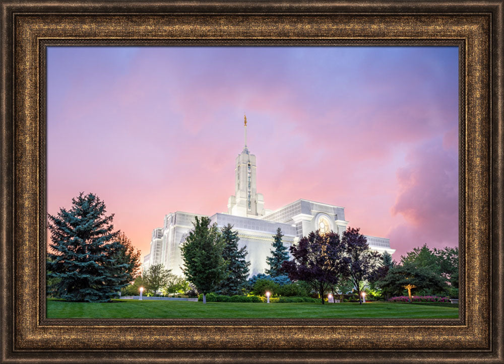Mount Timpanogos Temple - Rose Colored Night by Evan Lurker