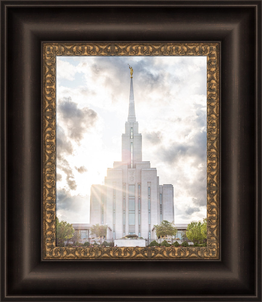 Oquirrh Mountain Temple - Glorious Light by Evan Lurker