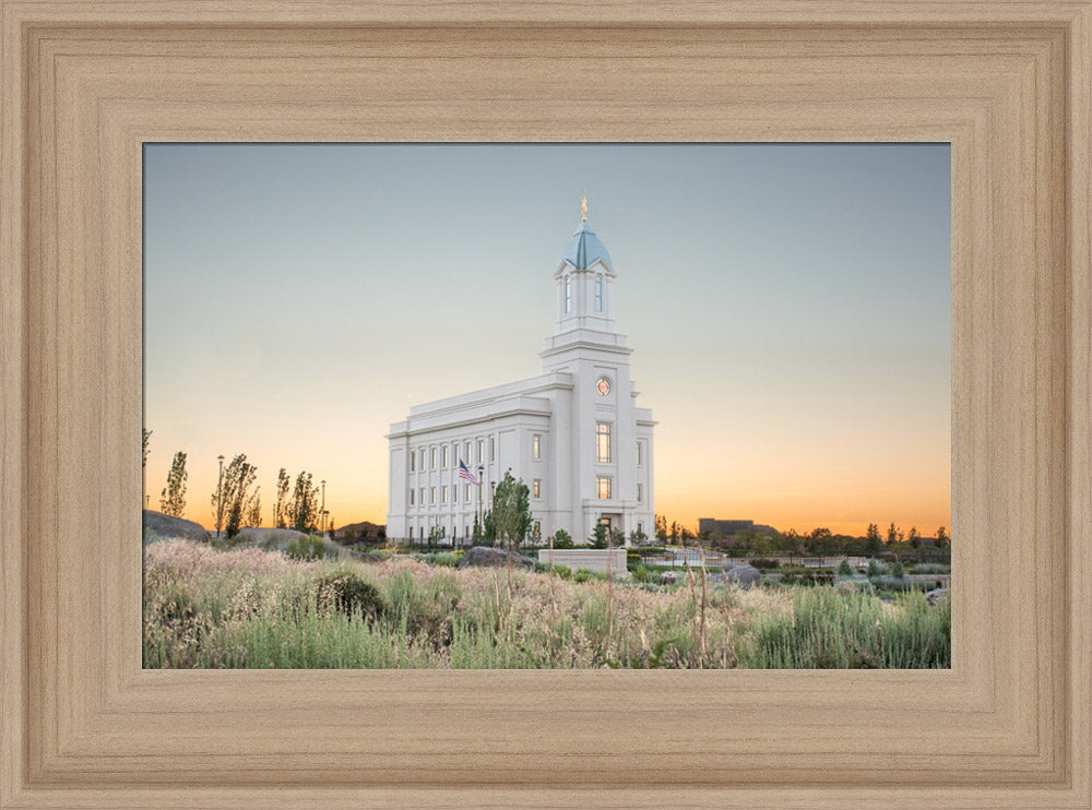 Cedar City Utah Temple - Desert Glow by Evan Lurker