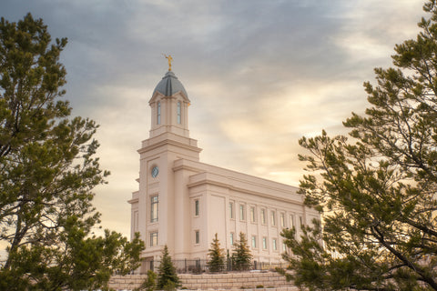 Cedar City Utah Temple - Peace Be Unto Thy Soul by Evan Lurker