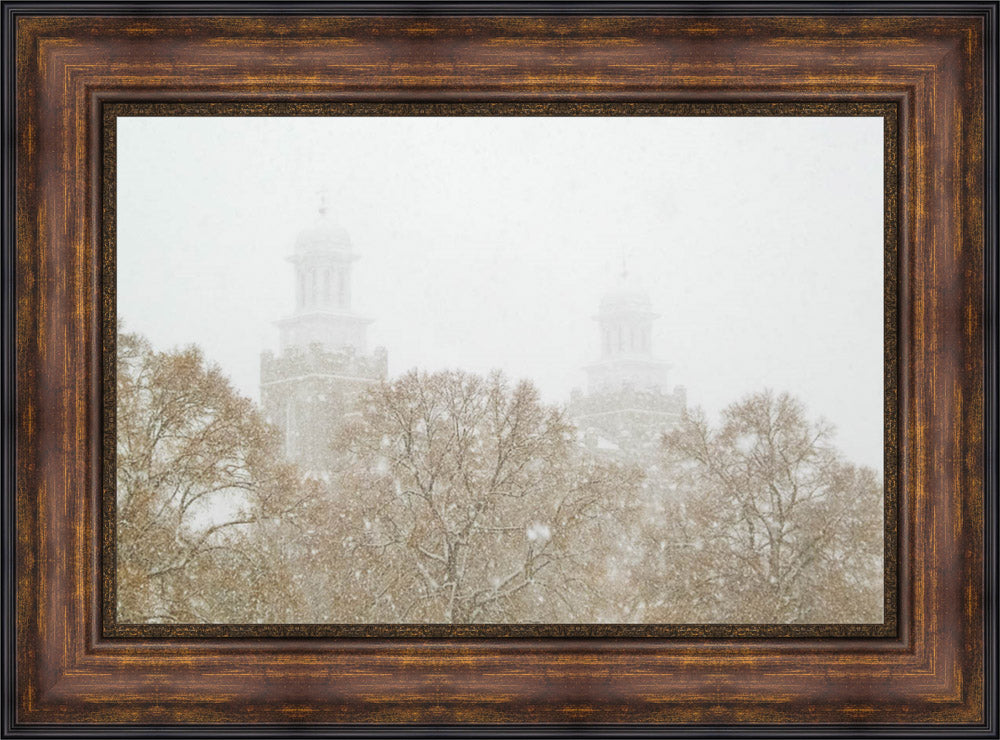 Logan Temple - In the Snow by Greg Collins