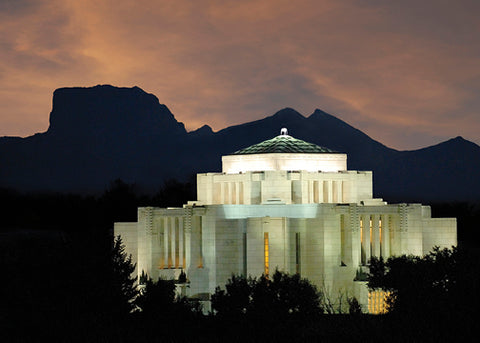 Cardston Temple - Mountain View 5x7 greeting card