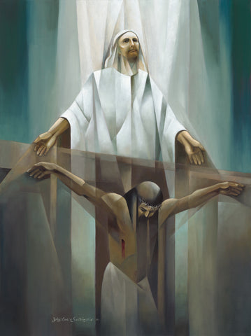 The moment Christ gives up the ghost while hanging on the cross.