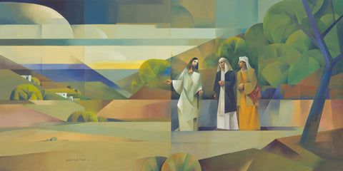 Jesus appears to disciples on road to Emmaus and they don't recognize him.