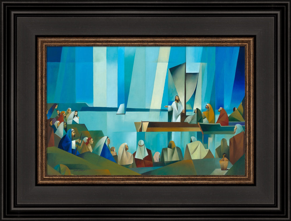 Jesus Preaching from a Boat by Jorge Cocco