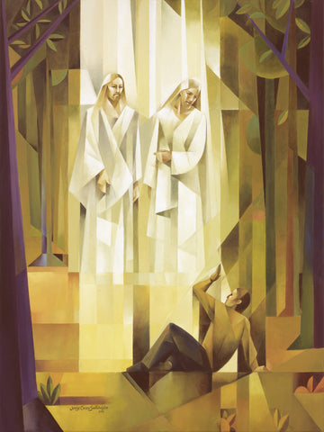 God, the Father, and Jesus Christ appear to the boy, Joseph Smith.