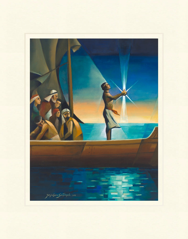 Nephi and the Liahona by Jorge Cocco
