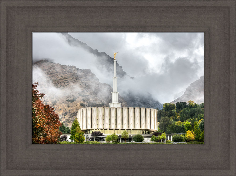 Provo Temple - Foggy Mountains by Kyle Woodbury