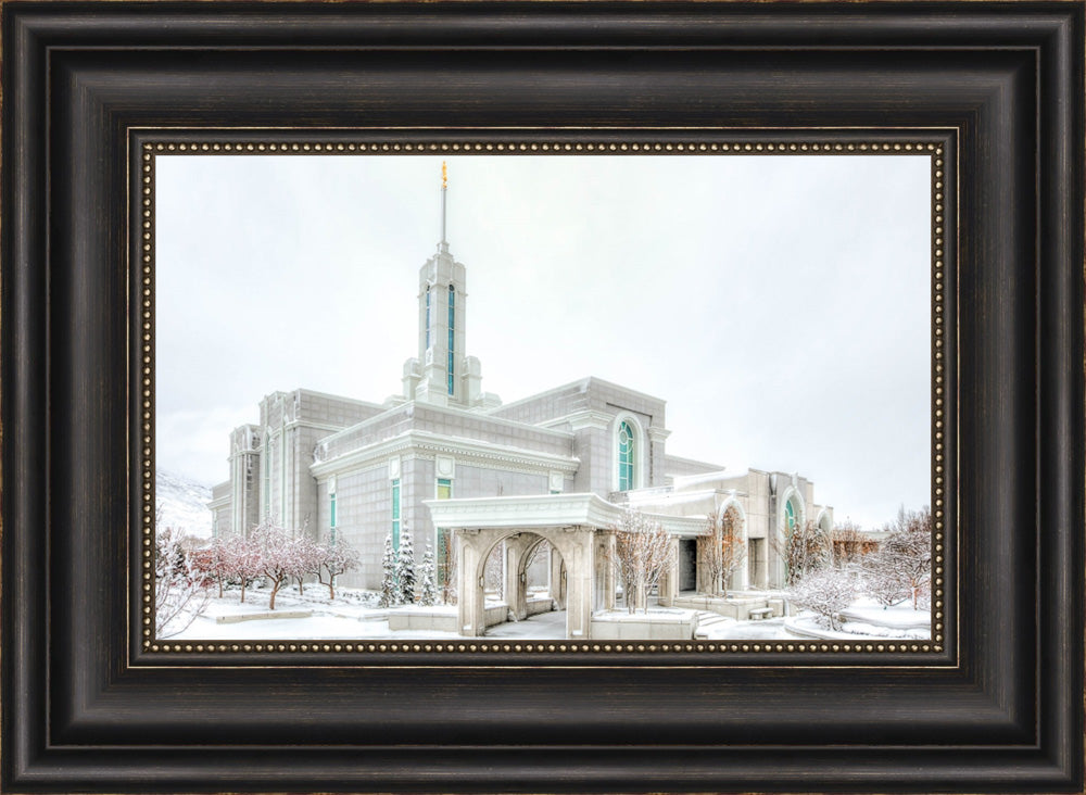 Mount Timpanogos Temple - Angled Whiteout by Kyle Woodbury