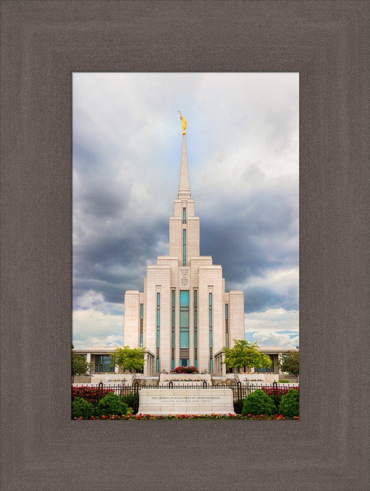 Oquirrh Mountain Temple - Cloudy Day by Kyle Woodbury