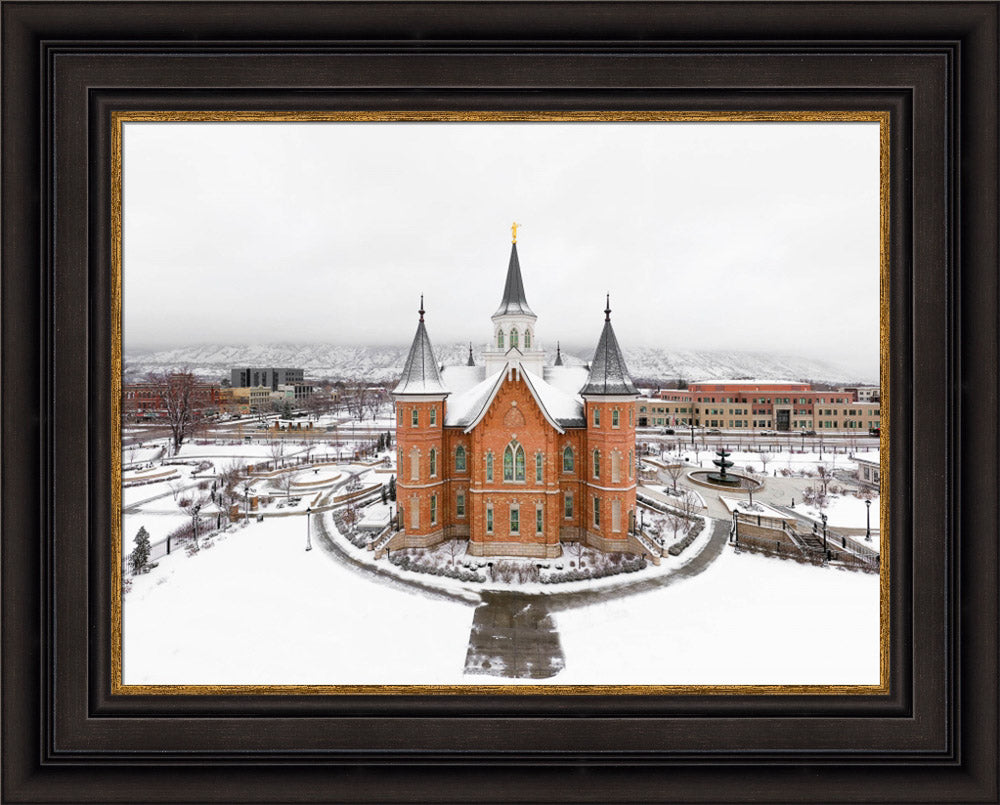 Provo City Center Temple - City From Above by Kyle Woodbury