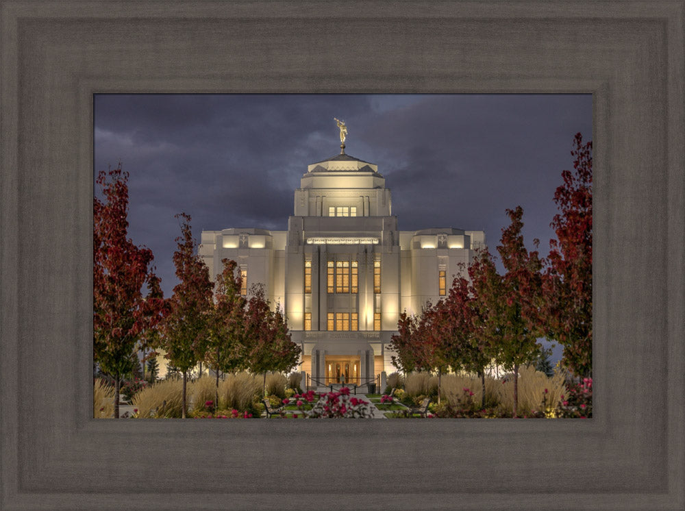 Meridian Temple - Night Lights by Kyle Woodbury