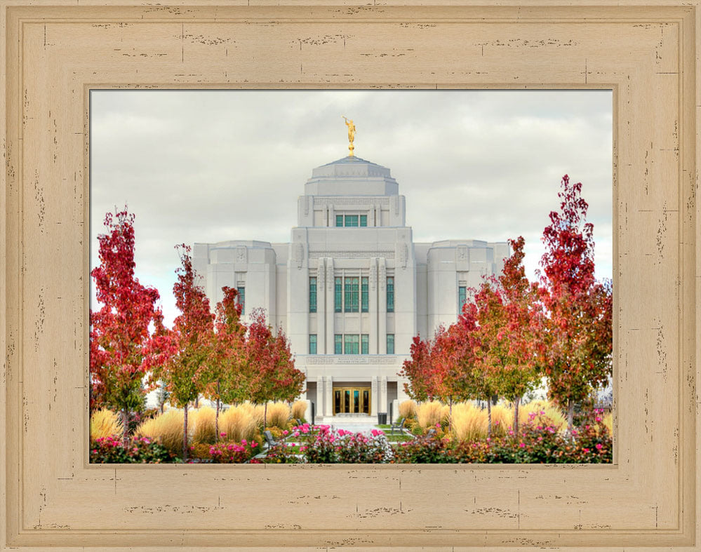 Meridian Temple - Fall Colors by Kyle Woodbury