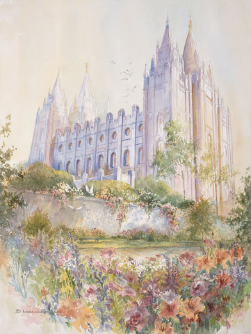 Salt Lake Temple 8x10 print by Laura Wilson