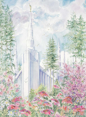 Portland Temple 8x10 print by Laura Wilson