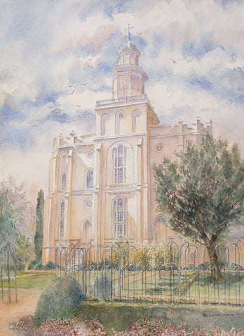 St. George Temple 8x10 print by B. Laura Wilson