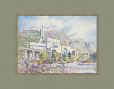 Timpanogos Temple 11x14 mat by Laura Wilson
