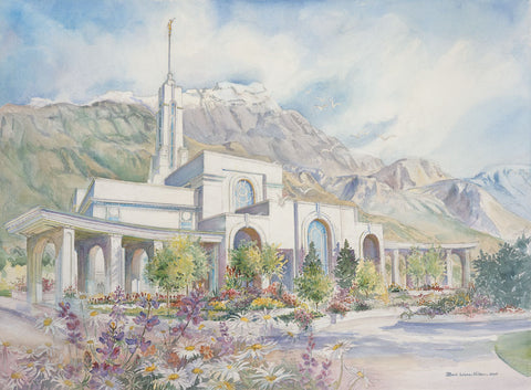 Timpanogos Temple 8x10 print by Laura Wilson