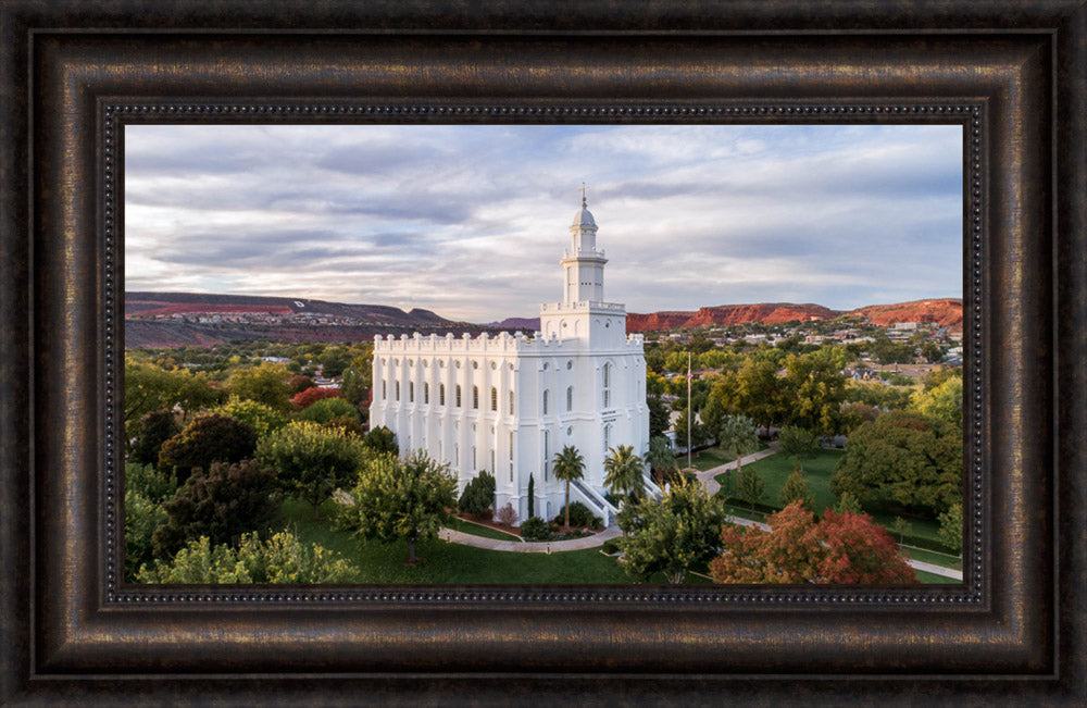 St. George Temple - Canyon View by Lance Bertola