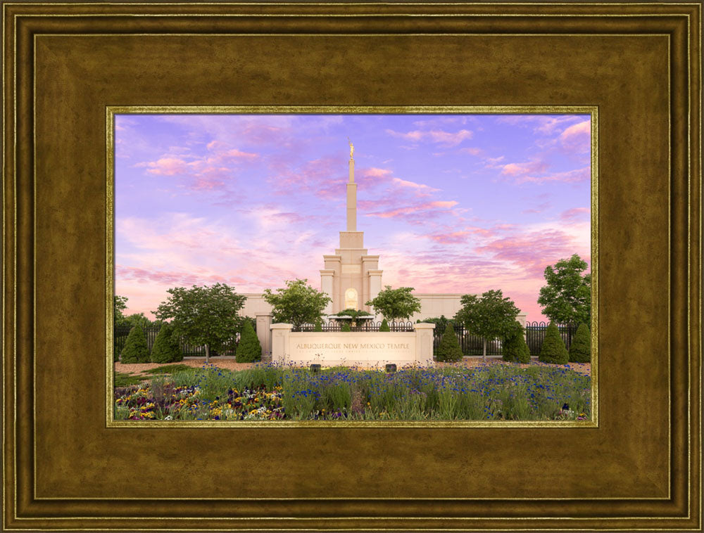 Albuquerque Temple - Vibrant Sunrise by Lance Bertola