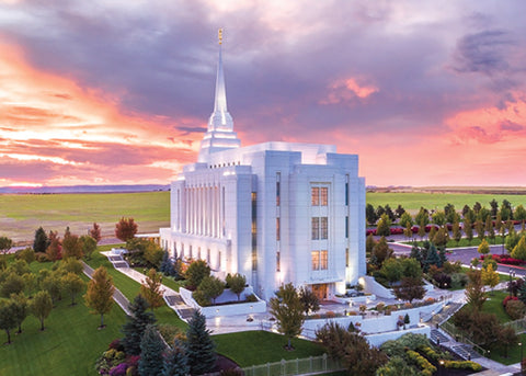 Rexburg Temple - Greater Heights 5x7 print