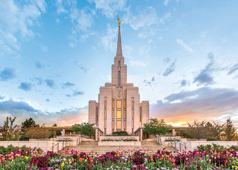 Oquirrh Mountain Temple - Beauty of Creation 5x7 print