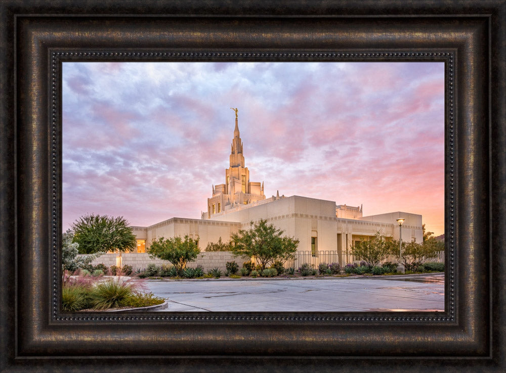 Phoenix Arizona Temple - Sunset Burst by Lance Bertola