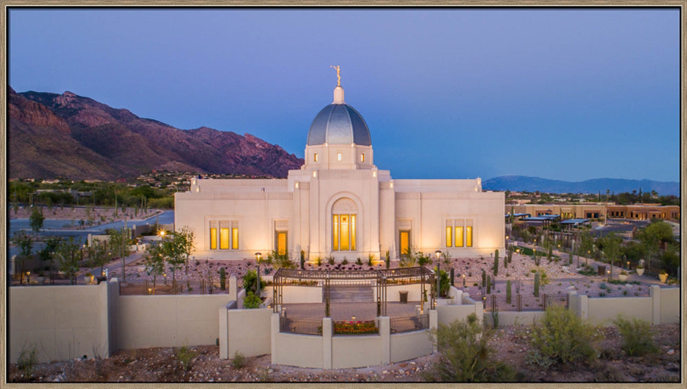 Tucson Arizona Temple - Blue Hour by Lance Bertola