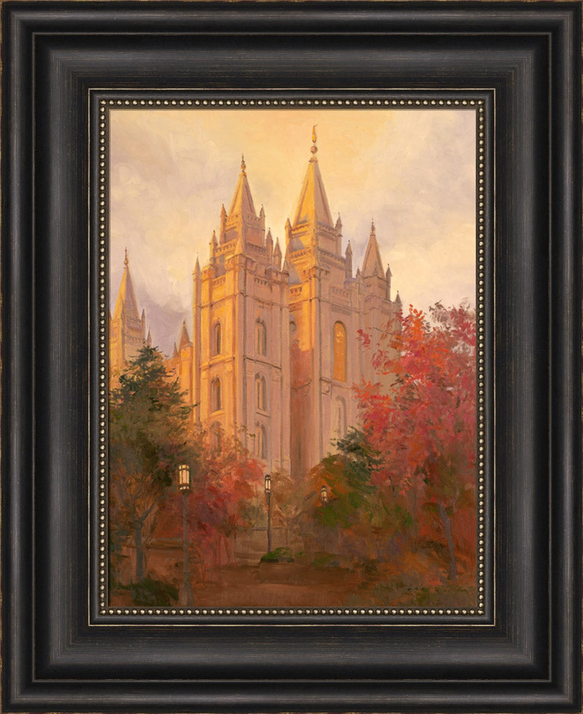 Salt Lake Temple - Golden Day by Linda Curley Christensen