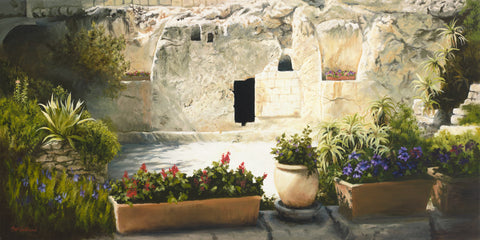 The empty garden tomb after Jesus arose on the third day.