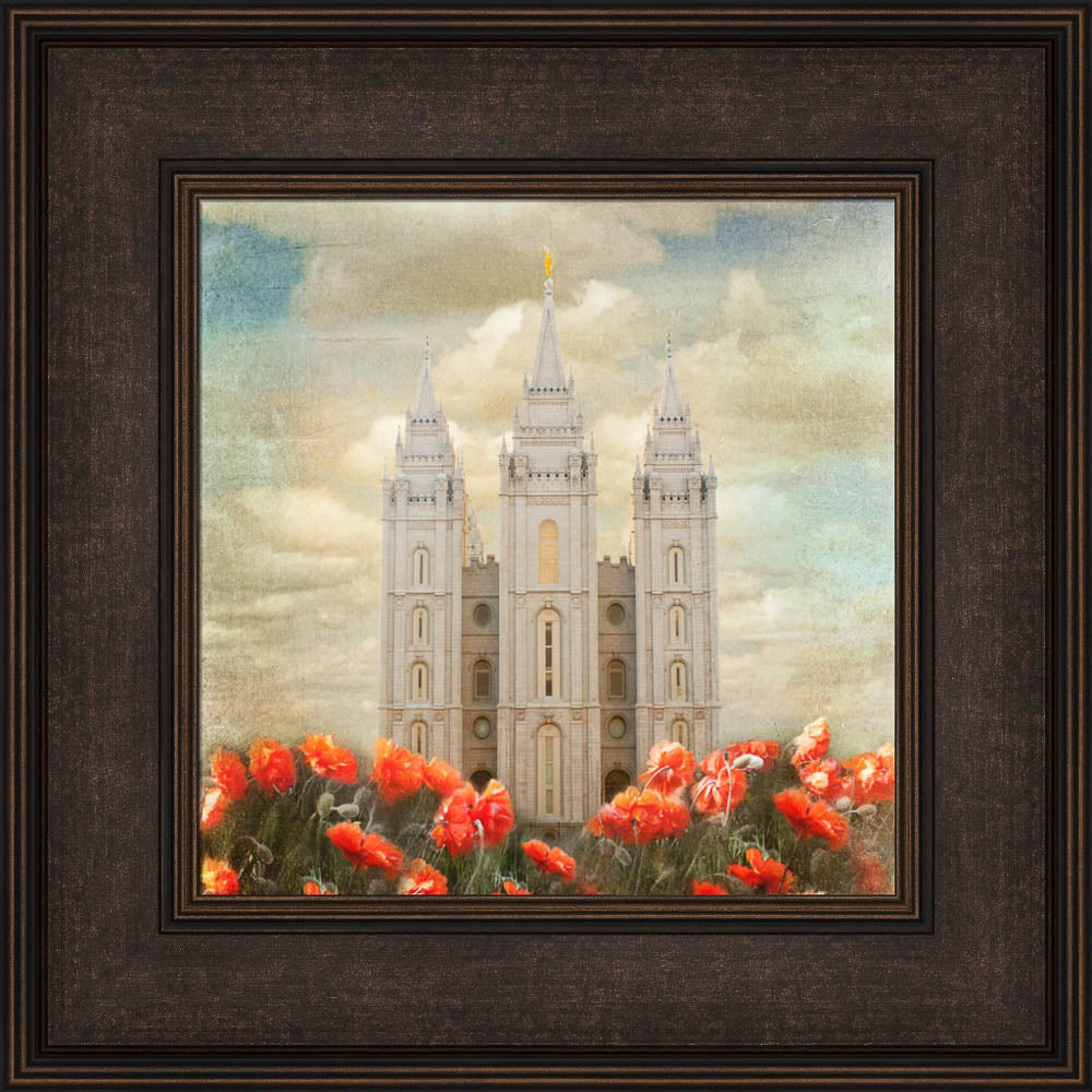 Salt Lake Temple - Joyful Day by Mandy Jane Williams