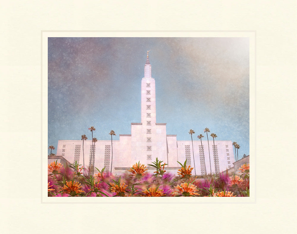 Los Angeles California Temple - Bright and Beautiful by Mandy Jane Williams
