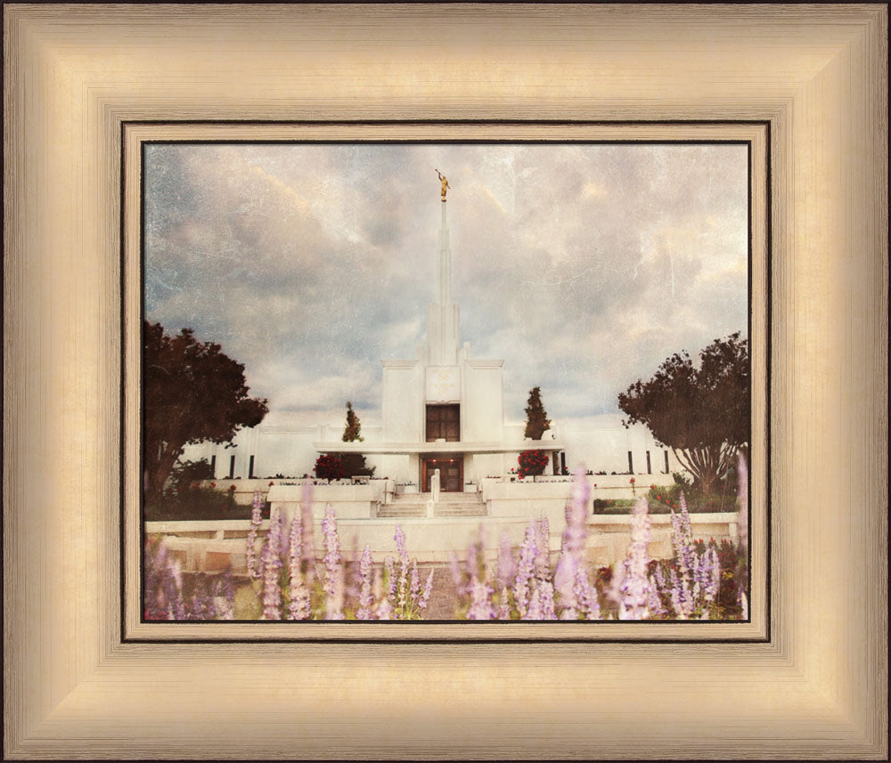 Denver Temple - Peaceful Pondering by Mandy Jane Williams