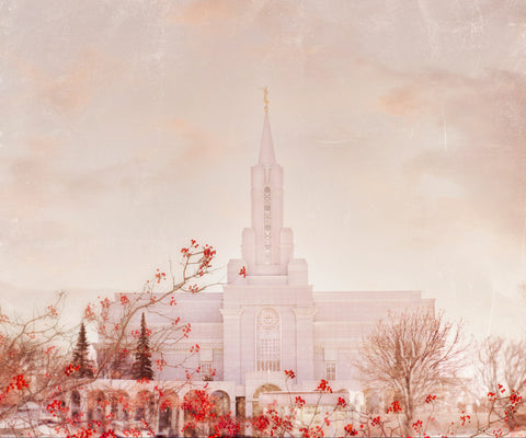Bountiful Utah Temple in the winter.
