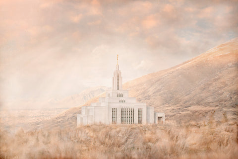 Draper Utah Temple - Holy Ground by Mandy Jane Williams