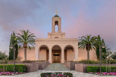 Newport Beach Temple - A House of Peace by Robert A Boyd