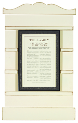 Family Proclamation Photoboard 23 x 36 (White)