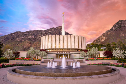 Provo Temple - Sunset Storm by Evan Lurker