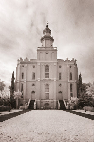 St George Temple - Infared by Robert A Boyd