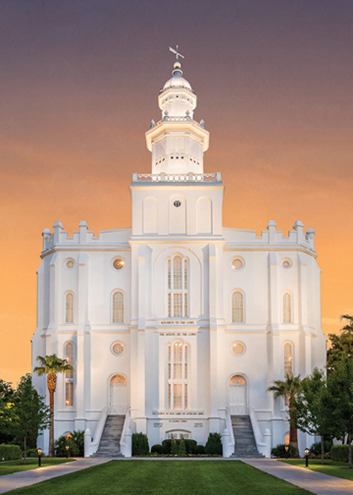 St. George Temple - Eventide 5x7 print