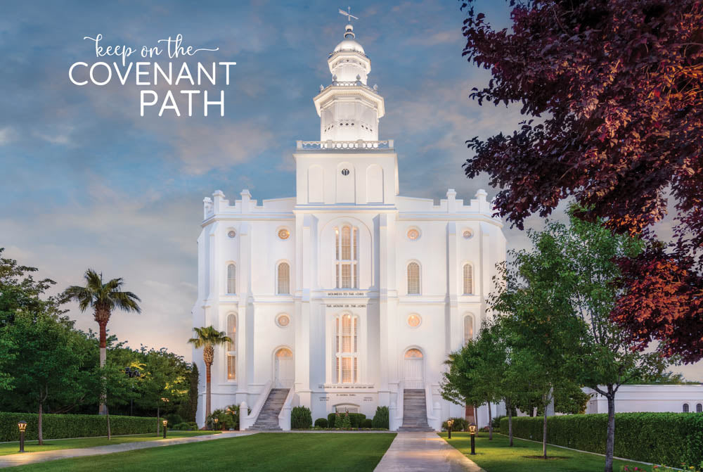 St. George Temple - Purple Tree 12x18 repositionable poster