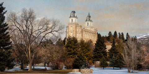 Manti Temple - Seasons Crossing by Robert A Boyd