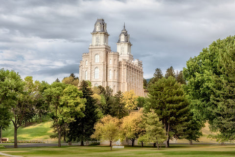 Manti Temple - Chrome Series by Robert A Boyd