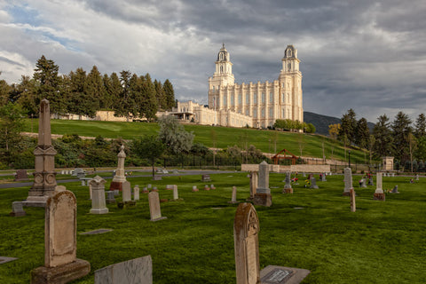 Manti Temple - Cemetery by Robert A Boyd
