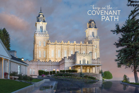Manti Temple - Covenant Path 12x18 repositionable poster