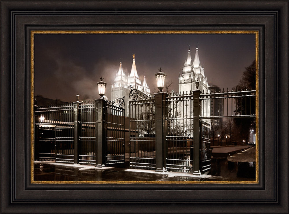 Salt Lake Temple - Straight is the Gate by Robert A Boyd