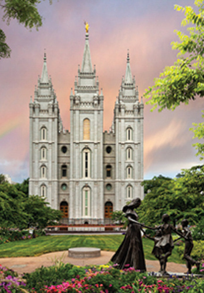 Salt Lake Temple Rainbow  minicard