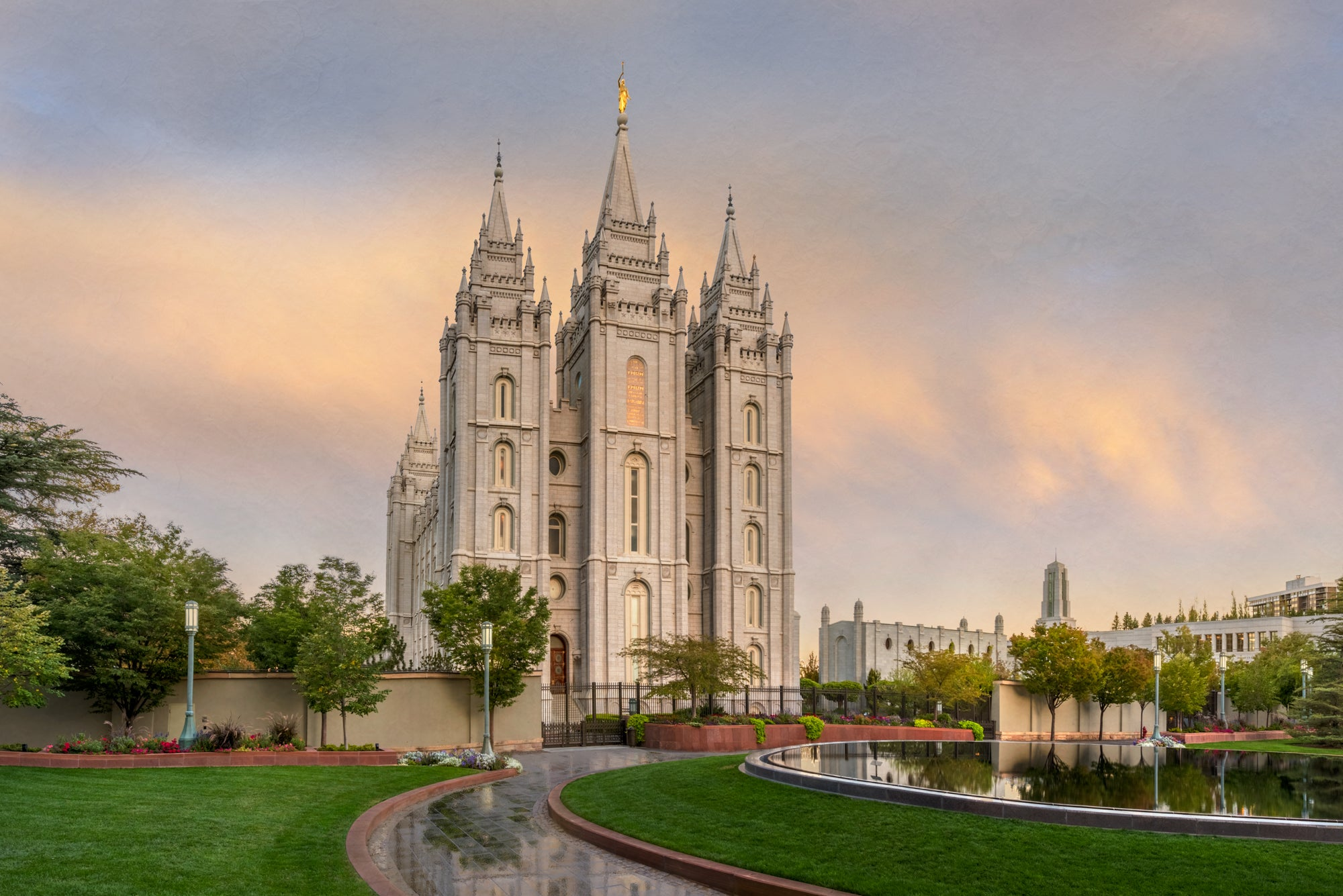 Salt Lake Temple- Covenant Path by Robert A Boyd